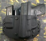 Hunt Ready Holsters Sandw Shield 9/40 Lh Owb Holster With Extra Mag Carrier