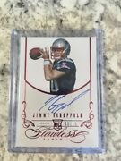 2014 Jimmy Garoppolo Panini Flawless Ruby Red Auto Rc Ed 5/15 49ers Pats