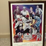 1997 Missouri Sports Hall Of Fame Signed 15x21 Litho -signed By All 11 Inductees