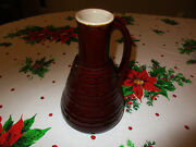 Very Rare Vtg Marcrest Daisy And Dot Brown Pottery Carafe Stoneware Pitcher Exc Co