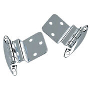 2 Pack Of 2-3/4 X 2-1/8 Inch Chrome Plated Brass Inset Hinges For Boats