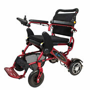 Geo Cruiser Ex Lightweight Foldable Power Chair Red With Free Accessories