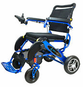Geo Cruiser Ex Lightweight Foldable Power Chair Blue With Free Accessories