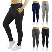 Womens Jogger Pants French Terry Cotton Blend Lounge Sweatpants 2-pack