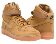 Nike Air Force 1 High And03907 Lv8 Wb Flax/outdoor Green 882096-200 Authentic
