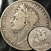 1821 Crown George Iv Silver Coin  S43