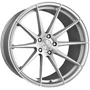 19 Vertini Rf1.3 Brushed Silver Concave Wheels For Cadillac