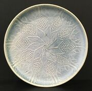 Hand Made Round Pottery Platter Signed By Judith Capio On Back Mint Condition!