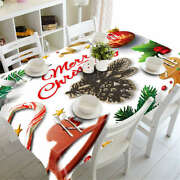 Holiday Approach 3d Tablecloth Table Cover Cloth Rectangle Wedding Party Banquet