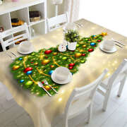 Luminous Tree 3d Tablecloth Table Cover Cloth Rectangle Wedding Party Banquet