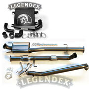 Legendex 3 Stainless Exhaust Intercooler Polished For Toyota Hilux D4d 3.0lt Td
