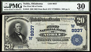 20 1902 First National Bank Of Noble Oklahoma Ch 9937 Tough Bank-only 8 Large