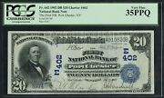 Fr642 402 20 1902 Date Back Port Chester Ny Pcgs 35 Ppq Unique Note Wlm5067