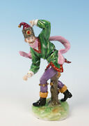 Volkstedt Russian Jester Porcelain Figurine National Costume German Oppel Russia