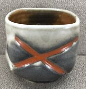 Beth Rohman Journeys End Pottery California Studio Art Pottery Shino Teabowl