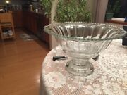 Large Vintage Fostoria Clear Crystal Punch Bowl