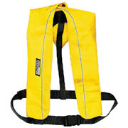 Yellow Polyester Manual Inflatable Type V Pfd Safety Life Vest For Boats