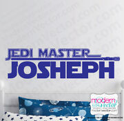 Star Wars Personalized Name Custom Vinyl Wall Decal Sticker Boys Room Lightsaber
