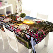 Riding On Bridge 3d Tablecloth Table Cover Cloth Rectangle Wedding Party Banquet