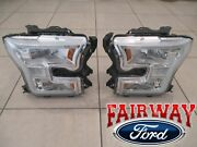 15 Thru 17 F-150 Oem Genuine Ford Chrome Led Head Lamps Lights - Pair Of Rh And Lh