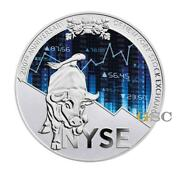 200th Anniv. Nyse New York Stock Exchange 8oz. Silver Coin Cameroon 2017