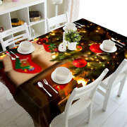 Warm Holiday 3d Tablecloth Table Cover Cloth Rectangle Wedding Party Banquet