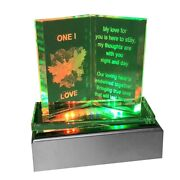 New Glass Crystal Ornaments Book Gift Set Poem Poetic Valentine Day Gift Present