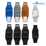Paw Inspired Reusable Washable Male Dog Wraps Belly Band For Male Dog Diapers