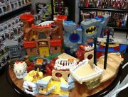 Huge Lot Of Fisher Price Imaginext Toys Mattel Batman Cave And More See All Pics