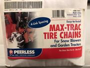 Peerless Max Trac Tire Chains 26x12x12 For Lawn Tractor Or Snowblower
