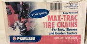 Peerless Max Trac Tire Chains 15 X 6 For Lawn Tractor Or Snowblower