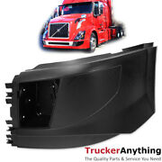 16-18 Volvo Vnl Truck Side Bumper End Extension Left Driver With Fog Light Holes