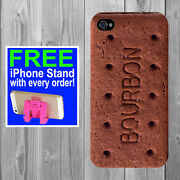 Bourbon Biscuit Mobile Phone Case Funny Retro Iphone Cover Novelty Brown