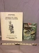 Lot Of 2 Pan Fishing, Antique Toy Doll And Train Auction