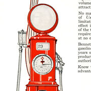 Bennett Visible And Clock Face Gas Pump 2 Pg Magazine Ad - Free Shipping