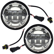 Eagle Lights Chrome 4.5 Motorcycle Hid Led Passing Lights Harley