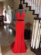 398 Nwot Jvn By Jovani Two Piece Prom/pageant/formal Dress/gown 24935 Size 00
