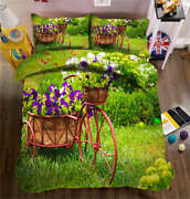 Vintage Cycling 3d Printing Duvet Quilt Doona Covers Pillow Case Bedding Sets