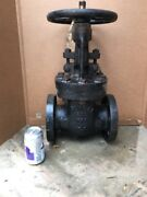 Vintage Nos Powell 3 Solid Disc Flange Gate Valve Steampunk Art Industrial Table