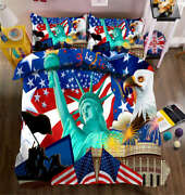 Statue Of Liberty 3d Printing Duvet Quilt Doona Covers Pillow Case Bedding Sets