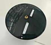 Black N Brass Domed Round Air Filter Cover Harley Hd 5-1/2 Softail Bobber Kandn