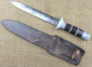 British Or Us Wwii Theater Made Fighting Knife Or Could Be Factory Made.