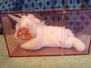 Ty Beanie Baby - Mystic The Unicorn Irredescent Horn And Yarn Mane 8 Inch Mwmt