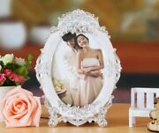 European Style Wedding Picture Frame Tabletop White And Sliver Color Lenox