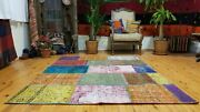 Vintage Bohemian Overdyed Patchwork Rug 5and039 X 7and039