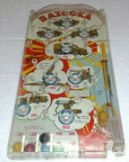 Vintage Marx Toys Bazooka Pinball Game With Colored Balls