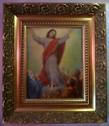 Antique Old Master Oil Painting - Ascension Of Christ