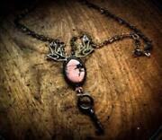 My Jewelry Sparrow And Rhodochrosite And Brass Links With Diecast Sparrows A H