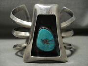 Most Likely Famous Vintage Navajo/ Hopi Turquoise Silver Bracelet