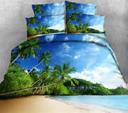 Curved Palms 3d Printing Duvet Quilt Doona Covers Pillow Case Bedding Sets